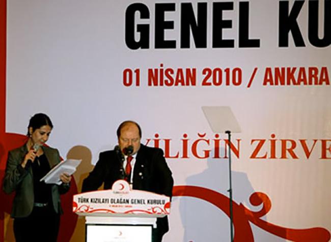 Ankara, inagurazione dell'assemblea generale della Mezza luna rossa turca