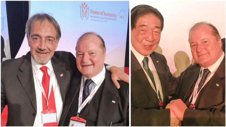Antalya (Turchia) con il Presidente uscente IFRC Tadateru Konoe e con il Presidente neo-eletto Francesco Rocca