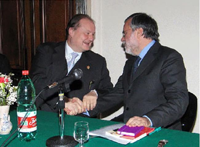 Con Andrea Riccardi fondatore della Comunità S.Egidio