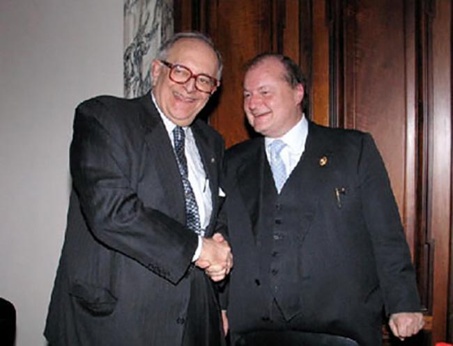 Con Cornelio Sommaruga