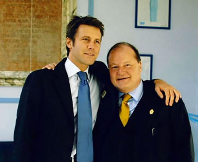 Con Emanuele Filiberto di Savoia a Villa Maraini