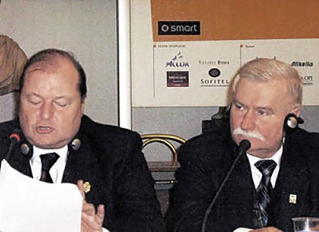 Con il Premio Nobel Lech Walensa