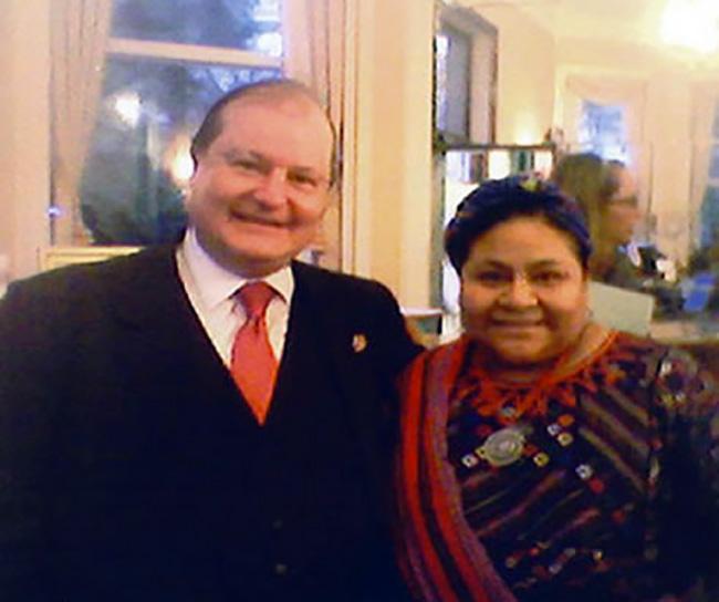 Con il Premio Nobel Rigoberta Menchù