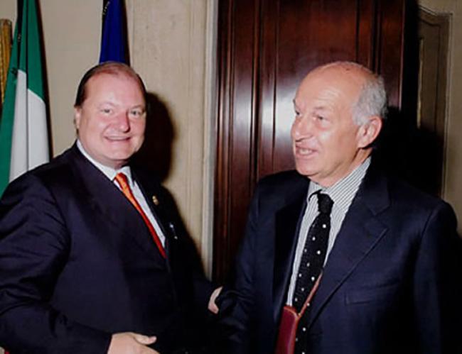 Con il Presidente della Camera Fausto Bertinotti