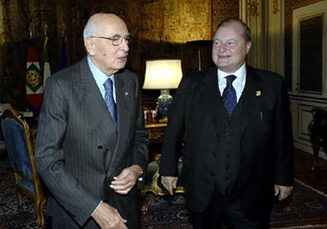 Con il Presidente della Repubblica Giorgio Napolitano
