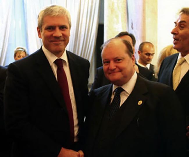 Con il Presidente della Serbia, Borislav Tadic
