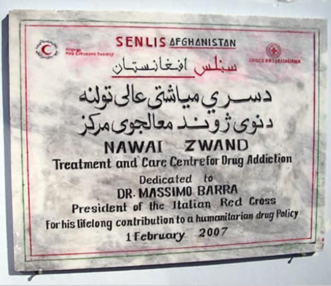 Kabul, inaugurazione del Centro antidroga di Mezza Luna Rossa