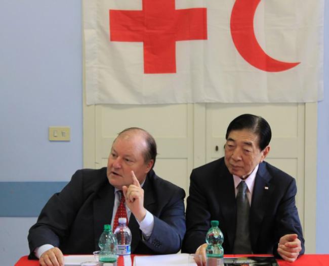 Visit of President of IFRC, Tadateru Konoe, to Villa Maraini