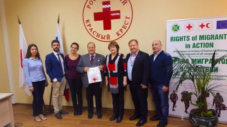 Mosca (Russia) ricevuto dalla Presidente della Russian Red Cross Raisa LUKUTTSOVA