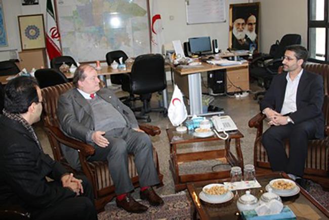 Tehran – Con il Segretario Generale della Mezzaluna Rossa Iraniana