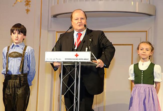 Vienna, inagurazione della conferenza europea della croce rossa e Mezza Luna Rossa