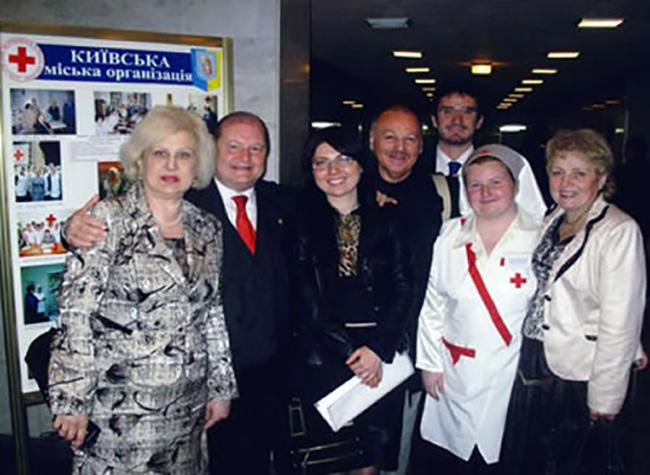 Visita alla Croce rossa Ucraina